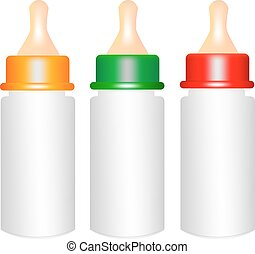 Baby Milk Bottle on White Background,vector