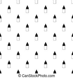 Baby milk bottle pattern vector