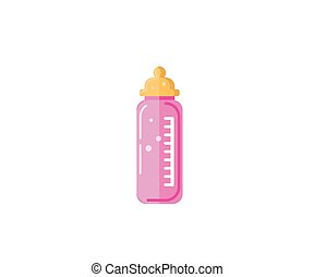 Baby milk in bottle. Vector EPS-10