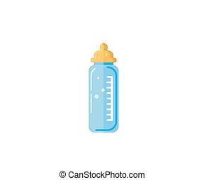 Baby milk in bottle. Vector EPS-10
