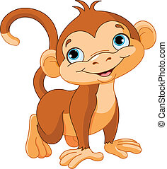 Baby monkey - Illustration of cute baby monkey
