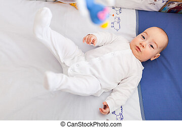 Baby moving legs
