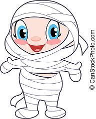 Baby mummy - Cute baby dressed as a mummy
