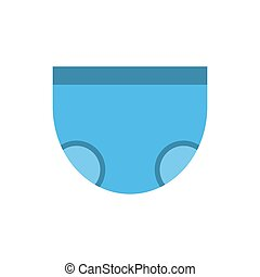 baby nappy colored flat icon vector design.