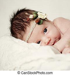 Baby, newborn girl