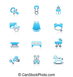 Baby objects icons | MARINE series - Newborn and first years...