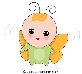 Baby Of Butterfly Suit