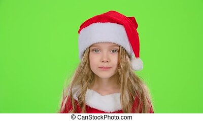Baby of the assistant Santa Claus say quietly to their...