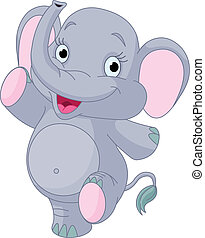 baby olifant, dancing