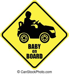 baby on board label sticker