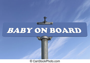 Baby on board road sign