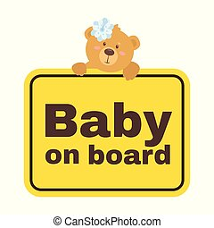 Baby on board safety sign