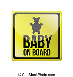 baby on board sign illustration