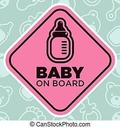 Baby on Board Sign with Bottle