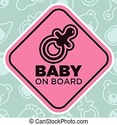 Baby on Board Sign with Pacifier