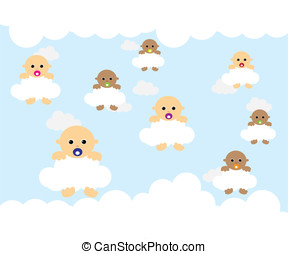 Baby on cloud