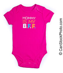 Baby. One Piece Baby Onesie Outfit with Short Sleeves and Snap Front