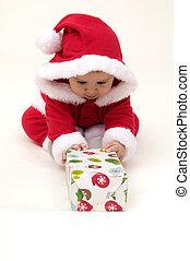 Baby Opening Present