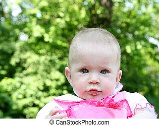 baby outdoor portrait