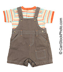Baby overalls set of clothes - Baby overalls and a shirt set...