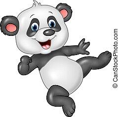 baby, panda, förtjusande, isolerat