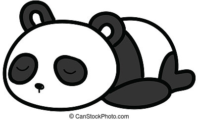 baby panda sleeping vector illustration