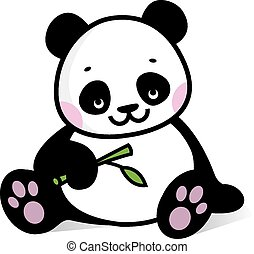 Baby Panda Illustration Of Cute Is Sitting On A Branch