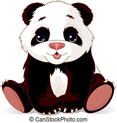 Baby Panda - Vector illustration of very cute baby panda
