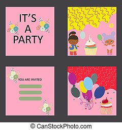 Baby party card template.