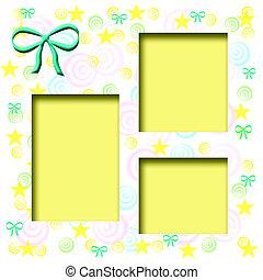 baby, pastel, frame