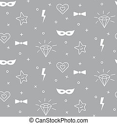 Baby pattern design. Nursery kid background. - Baby grey and...