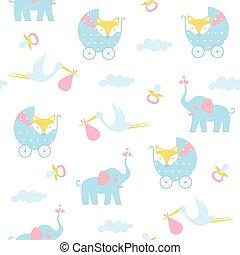baby, pattern., seamless