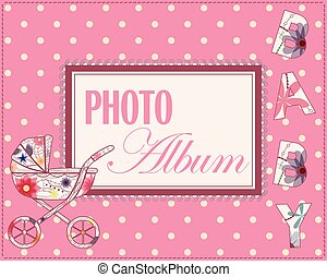 Baby photo album cover