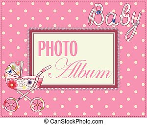 Baby photo album cover