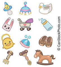 baby, pictogram, spotprent