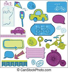 baby, plakboek, communie, ontwerp