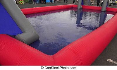 Baby plastic pool. 4K.