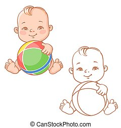 baby play with ball
