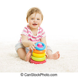 Baby Playing Toys, Child Play Pyramid Tower, Little Kid