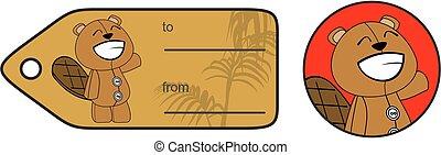 plush beaver cartoon giftcard