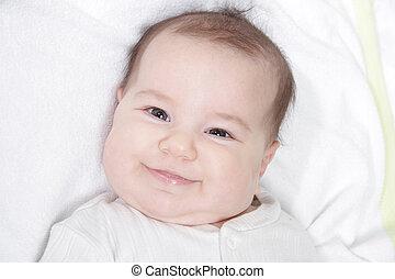 baby, portræt, smil