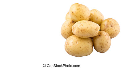 Baby Potatoes - Baby potatoes over white background
