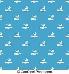 Baby pram protection pattern seamless blue