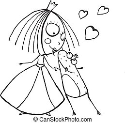 kids kissing coloring pages - photo#45