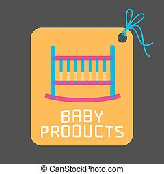 Baby products vector logo