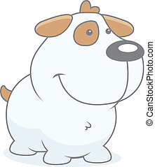 Baby Puppy - A cartoon baby puppy happy and smiling.