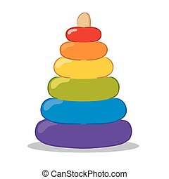 Baby Pyramid Toys - Vector illustration of Baby Pyramid Toys