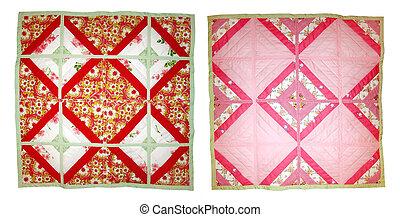 Baby quilt. Handmade patchwork.
