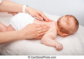 baby, rückenmassage