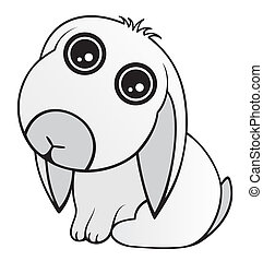 Drawing of a cute baby rabbit.